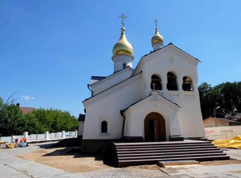 Владимир Ресин: Готовится к сдаче храм Казанской Божией Матери в посёлке Мещерский