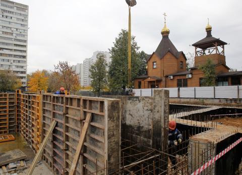 Владимир Ресин: На стыке трёх столичных районов строится храм по трём канонам храмового зодчества