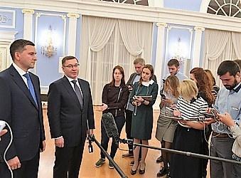 Владимир Якушев и Дмитрий Кобылкин провели брифинг по итогам заседания президиума Совета при Президенте России