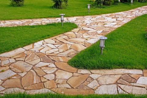 Благоустройство декоративным бетоном