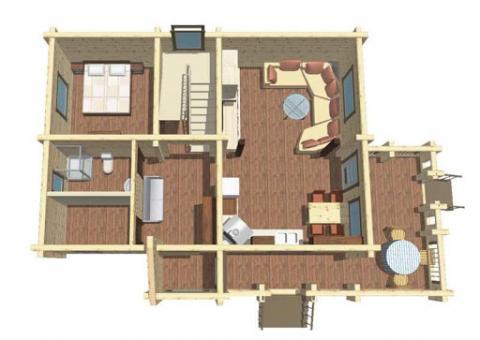 Планы деревянных домов