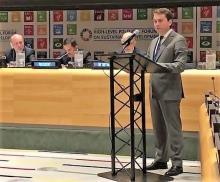 Андрей Чибис представил в ООН проект рейтингового голосования по городской среде