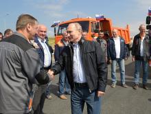 Владимир Путин открыл автодорожную часть Крымского моста