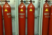 Газовое тушение пожаров с использованием хладона 125